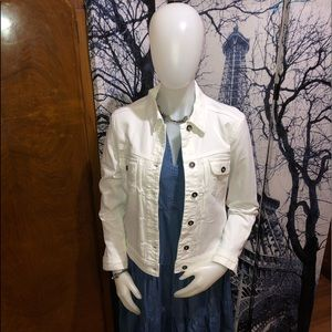 Lee Jeans Women's White Denim Jacket